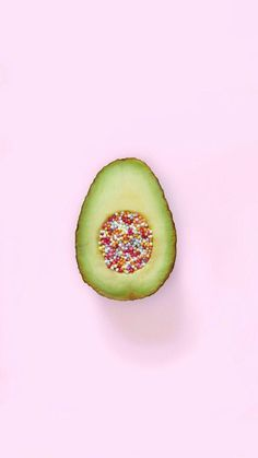 Avocado with Sprinkles iPhone Wallpaper