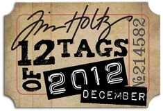 Every month a tag with a new technique or idea, Tim Holtz explains how to make *** Elke maand een tag met een nieuwe techniek of idee, Tim Holtz legt uit hoe te maken Card Tags, Cards, Gift Tags, Tim Holtz Stamps, Christmas Tag, Christmas Ideas, Distress Ink, Making Ideas, Cardmaking