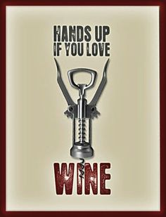 Hands up if you love wine!