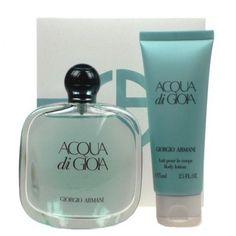Armani Aqua Di Gioia Edp 100ml/3.4 oz+ Lotion 75ml/2.5 oz ) gift set for women