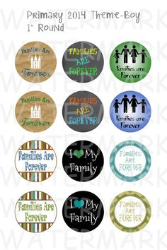 Families are Forever  2014 Primary Theme  Boy by GreenJelloSalad, $2.00