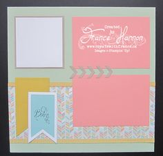 Baby 2a scrapbook page baby weve grown