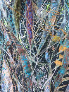 Textilplatten Crazy Vul: Zehntausend Bilder - Крейзи вул - Art World Fiber Art Quilts, Textile Fiber Art, Textile Artists, Art Quilting, Textiles Techniques, Art Techniques, Fabric Painting, Fabric Art, Fabric Sewing