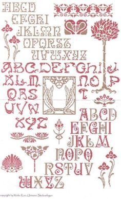 Cross Stitch Pattern from Gallery.ru / Фото - - # 1 of 5 Images, This Image is the Guide, Pattern has 4 Images. This site has all the Pattern Pieces at meconopsis. Cross Stitch Letters, Cross Stitch Art, Cross Stitch Samplers, Modern Cross Stitch, Cross Stitch Designs, Cross Stitching, Embroidery Alphabet, Embroidery Sampler, Cross Stitch Embroidery