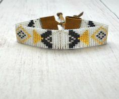 Tribal Bead Bracelet - Beaded Bracelet - Seed Bead Bracelet - Adjustable Bracelet - Boho Bracelet - Gifts For Her - Under 25 - Women Jewerly Hippie Bracelets, Bead Loom Bracelets, Woven Bracelets, Bohemian Style Jewelry, Hippie Jewelry, Beaded Jewelry, Adjustable Bracelet, Sterling Silver Bracelets, Earrings Handmade