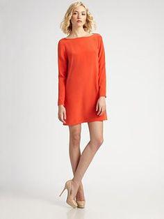 Tibi. Silk Shift Dress