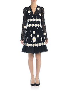 Dolce & Gabbana - Daisy Appliqué Lace Dress