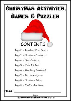 free christmas printables   our free printable christmas activities worksheets for kids can be ...