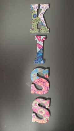 KISS - decor - word on the wall by JKLMDesigns, $72.00