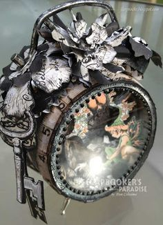 FAIRY ROCKS and THINGS: Tim Holtz Assemblage Clock Collaboration