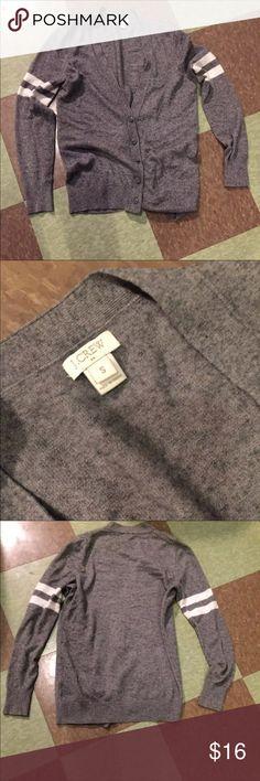 J Crew varsity sweater grey cardigan small Good condition   Bin C24 J. Crew Sweaters Cardigans