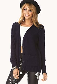 Refined Waffle Knit Cardigan | FOREVER21 - 2000091981