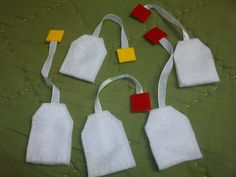 Felt Tea Bags, Hallie would love these. She loves tea and she'd be able to pretend she was making it herself!