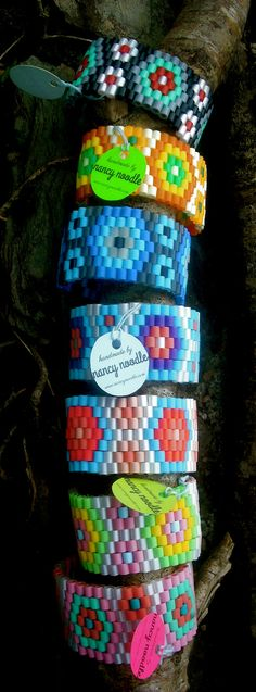 Ladies Woven Hama Bead Cuffs. Choose your by NancyNoodleDesigns