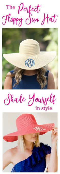 Shade yourself in style!  We've found the perfect Floppy Sun Hat.