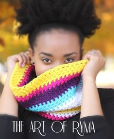 """The Royale'"" Multi Color Crochet Cowl"