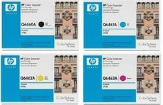 HP Color LaserJet 4730 Toner Set Q6460A, Q6461A, Q6462A, Q6463A Black, Cyan, Magenta, Yellow