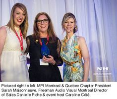 #Montreal Director of Sales Honoured with #MPI Montreal & #Quebec #Volunteer of the Year #Award  #freeman #eventprofs #CSR