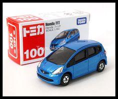 TOMICA #100 HONDA FIT JAZZ 1/60 TOMY GIFT TOY CAR 100 DIECAST CAR