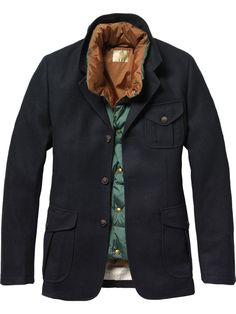 Hunting blazer and inner body warmer