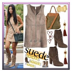 """""""Suede Boots"""" by westcoastcharmed ❤ liked on Polyvore featuring Giuseppe Zanotti, FREDsBRUDER, H&M, Isabel Marant, Vince Camuto and suedeboots"""
