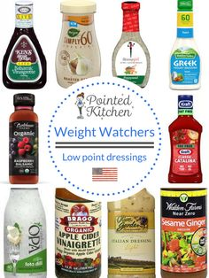 for a salad dressing that won't break your Weight Watchers Points balance? Then this list of low SmartPoint salad dressings will interest you Weight Watchers Snacks, Weight Watchers Dressing, Weight Watchers Tipps, Weight Watchers Salat, Weight Watchers Program, Weight Watchers Points Plus, Weight Watchers Meal Plans, Weight Watcher Dinners, Weight Watchers Chicken