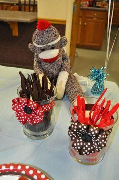 Sock Monkey Party Decor #sockmonkey #party