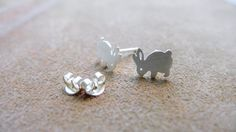 Little Rabbit, Cool Design Silver Accessories by PIMTHA , Cute Stud Earring, Homemade and Handmade
