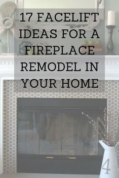 17 Facelift Ideas for a Fireplace Remodel in Your Home- Is your fireplace in need of a facelift? Get some inspiration for your fireplace remodel from these 17 makeovers by some of our most bold and creative Hometalkers! Brick Fireplace Remodel, Fireplace Facade, Diy Fireplace, Marble Fireplace Surround, Fireplace Surrounds, Handmade Home Decor, Diy Home Decor, Homemade Air Freshener, Diy Projects For Men