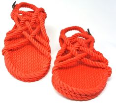 06e7033634ae the jc rope sandal in red color Rope Sandals