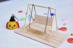 Simplesmente Artesanato: Mini-balanço de palitos - pap reciclagem