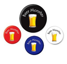 Beer #monster badge funny pint beer lager pub drink #birthday #christmas novelty,  View more on the LINK: 	http://www.zeppy.io/product/gb/2/172395596094/