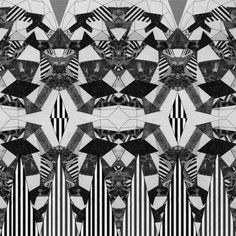Hypnotized pattern art print by Vasare Nar