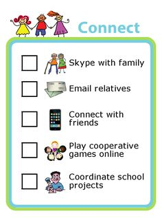 Tired of fighting screen time battles? They can pick from any one of these excellent ideas for using screens to connect with other people. You can also easily edit this list to make it just right for your family. Printable Activities For Kids, Free Printables, After School Club, Cooperative Games, The Time Is Now, Lists To Make, School Projects, Online Games, Other People