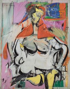 Willem de Kooning - Abstract Expressionism - Woman, 1949