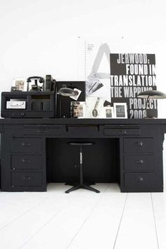 Dark on like its brilliant. desk - type - industrial