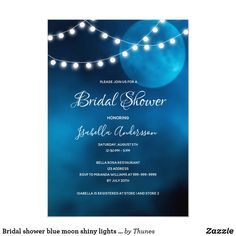 Find customizable Moon invitations & announcements of all sizes. Pick your favorite invitation design from our amazing selection. Bridal Shower Rustic, Bridal Showers, Zazzle Invitations, Party Invitations, Romantic Evening, White Letters, Blue Moon, Invitation Design, Paper Design