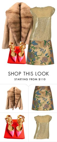 """""""Christmas in fur!"""" by eiliana ❤ liked on Polyvore featuring River Island, Valentino and Pierre Balmain"""