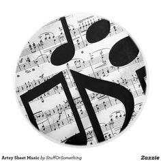Artsy Sheet Music Ceramic Knob