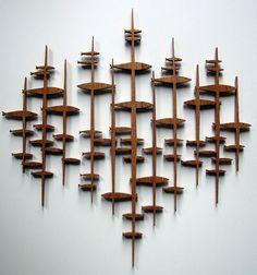 Rhan Vintage. Mid Century Modern Blog.: Frederick Arndt Mid Century Inspired Wooden Art