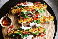 A kind of banh mi update on our favourite zucchini slice. Cooking Recipes, Healthy Recipes, Savoury Recipes, Healthy Foods, Healthy Options, Asian Recipes, Savoury Baking, Meatless Recipes, Chef Recipes