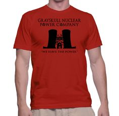 Retro Tee | He-Man Grayskull Nulear Power Company T-Shirt by TwistedMonkeyApparel on Etsy