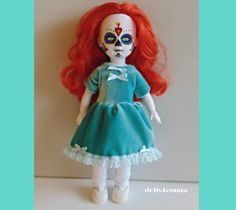 Living Dead Doll Clothes  Teal-Blue Velvet Baby-Doll by DOLLS4EMMA