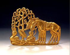 Scythian Gold Belt Plaque Gold, 5th. 4th cent.  BCE Russia