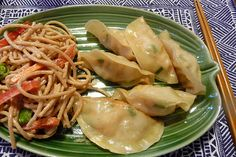 Shrimp Scallion Dumplings. Can't wait to make this.