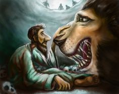 daniel in the lion's den concept art by earthwormnistic.deviantart.com on @DeviantArt