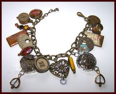 Steampunk Charm Bracelet Vintage pieces by LovelyVintageDesigns, $30.00