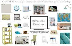 #Homeschool Room by Sweet August Interiors