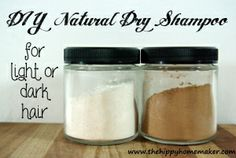 diy natural dry shampoo for light or dark hair. Get rid of those store bought dry shampoos that contain toxic chemicals, and save money making your own