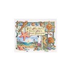 DIMENSIONS-Simple Treasurers Counted Cross Stitch. Kit includes cotton thread, 14 count white Aida, thread palette, needle, and easy instructions. (mat/frame not included). Measures 14x11 inches.